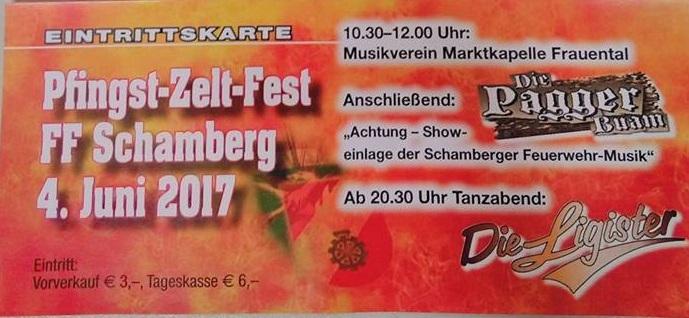 Pfingst- Zeltfest  FF Schamberg